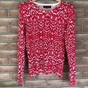 Jones New York red/white cardigan size M